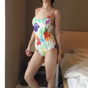Illusions By Cole Floral One Piece Swimming Suit